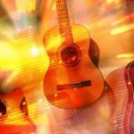 Free stock photo Various guitars on abstract background