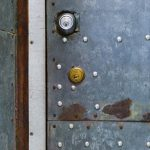 Free stock photo Close-up of closed metallic door with locks