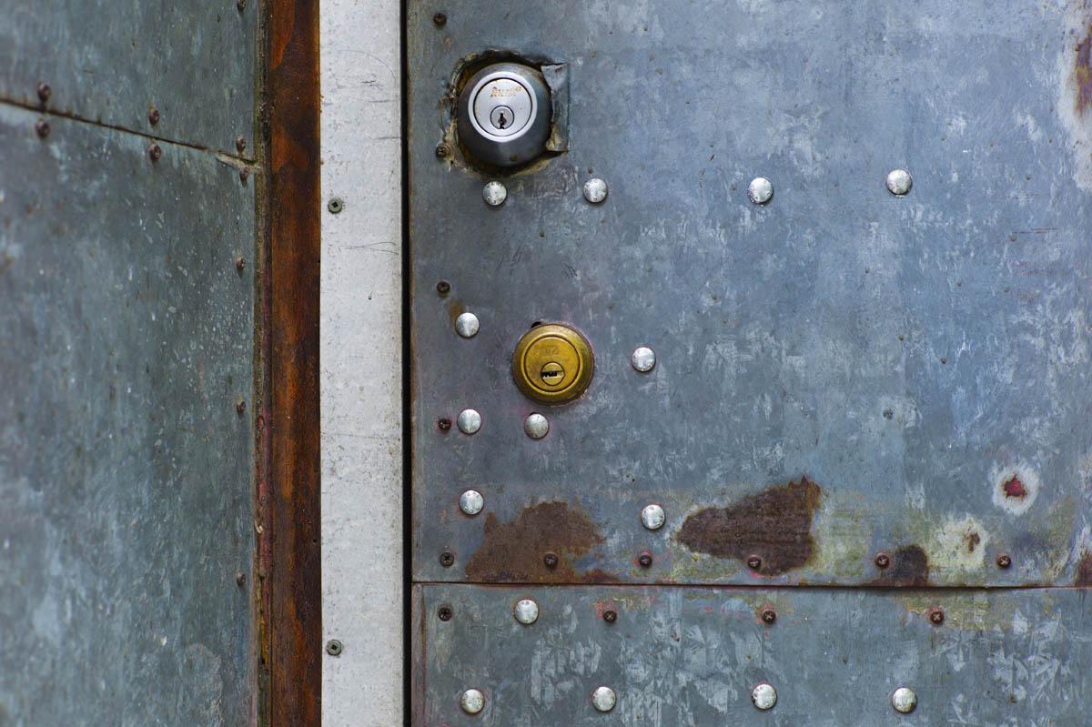 Free stock photo Close-up of closed metallic door with locks