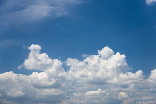 Free stock photo Low angle view of white clouds in blue sky