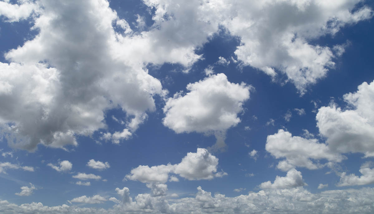Free stock photo White clouds in blue sky