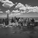 Free stock photo Black and white aerial view of New York City