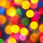 Free stock photo Colorful defocused lights at night
