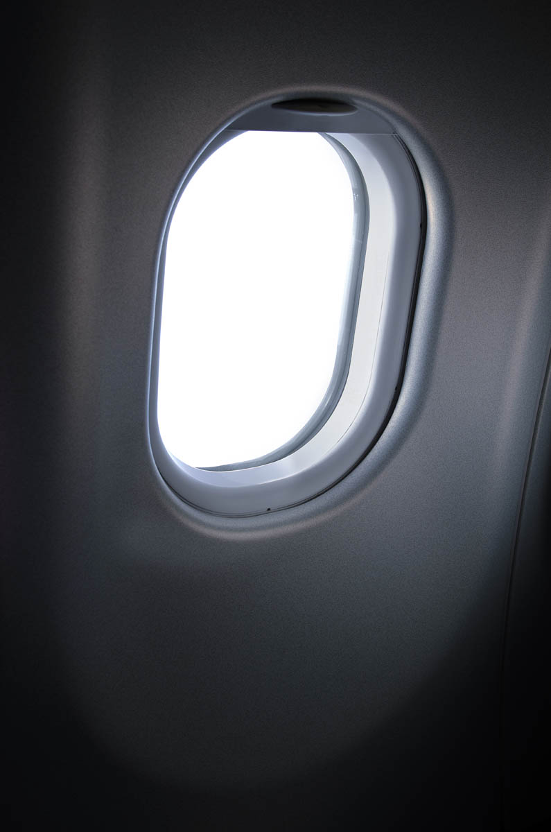 Free stock photo Close-up of airplane window