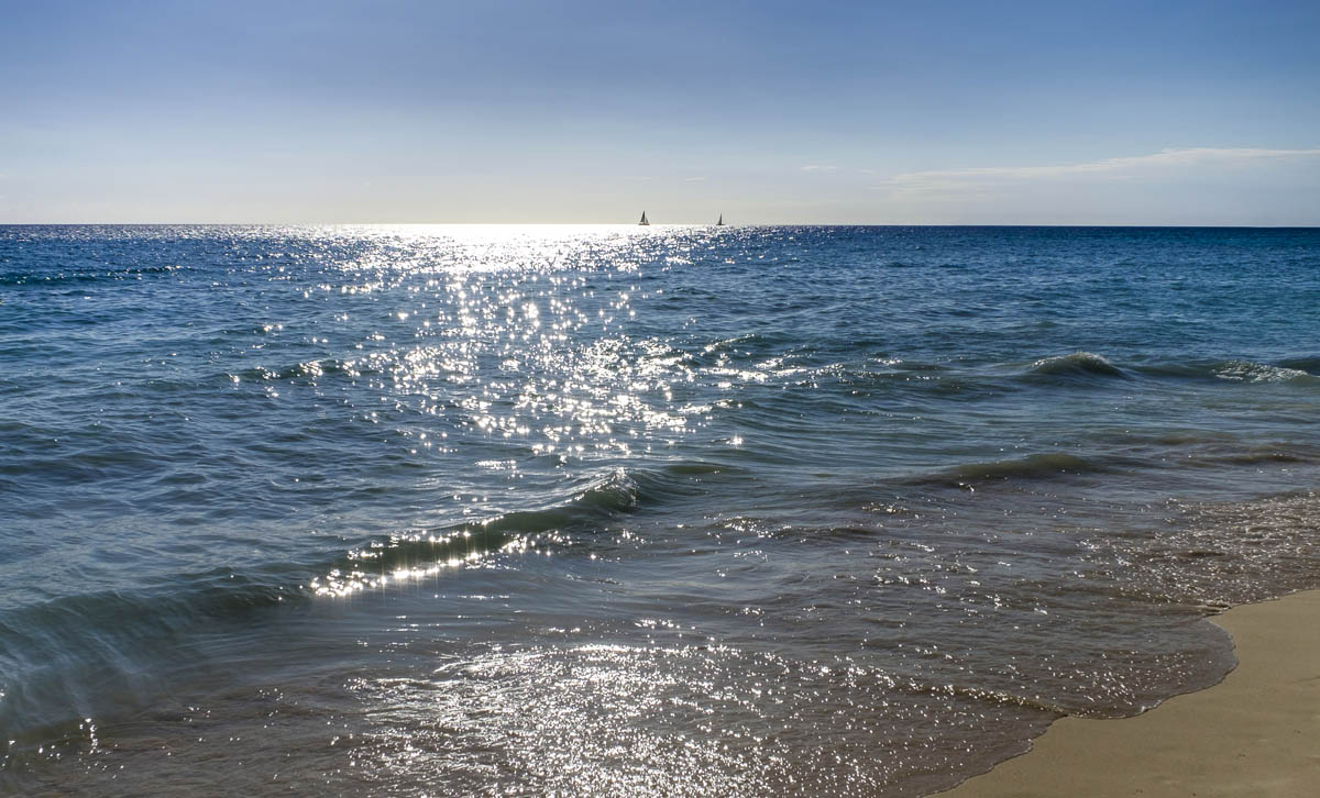 Free stock photo Scenic view of sea at beach against sky