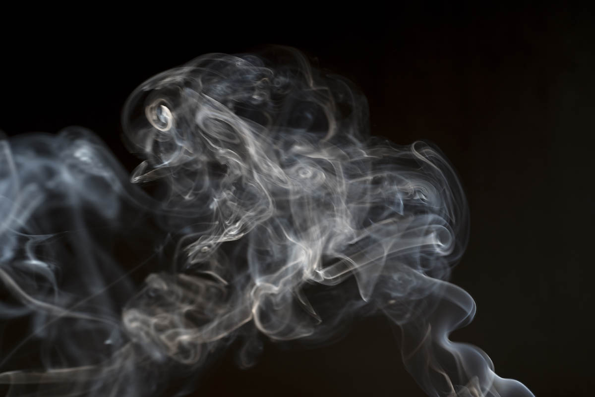 Free stock photo Close-up of smoke against black background