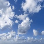 Free stock photo Low angle view of clouds in blue sky