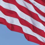 Free stock photo Low angle view of stripes on american flag