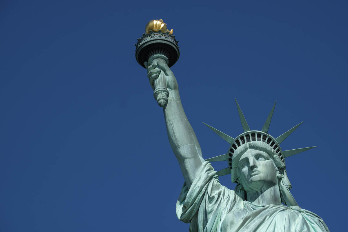 Free stock photo Low angle view of statue of liberty against clear sky