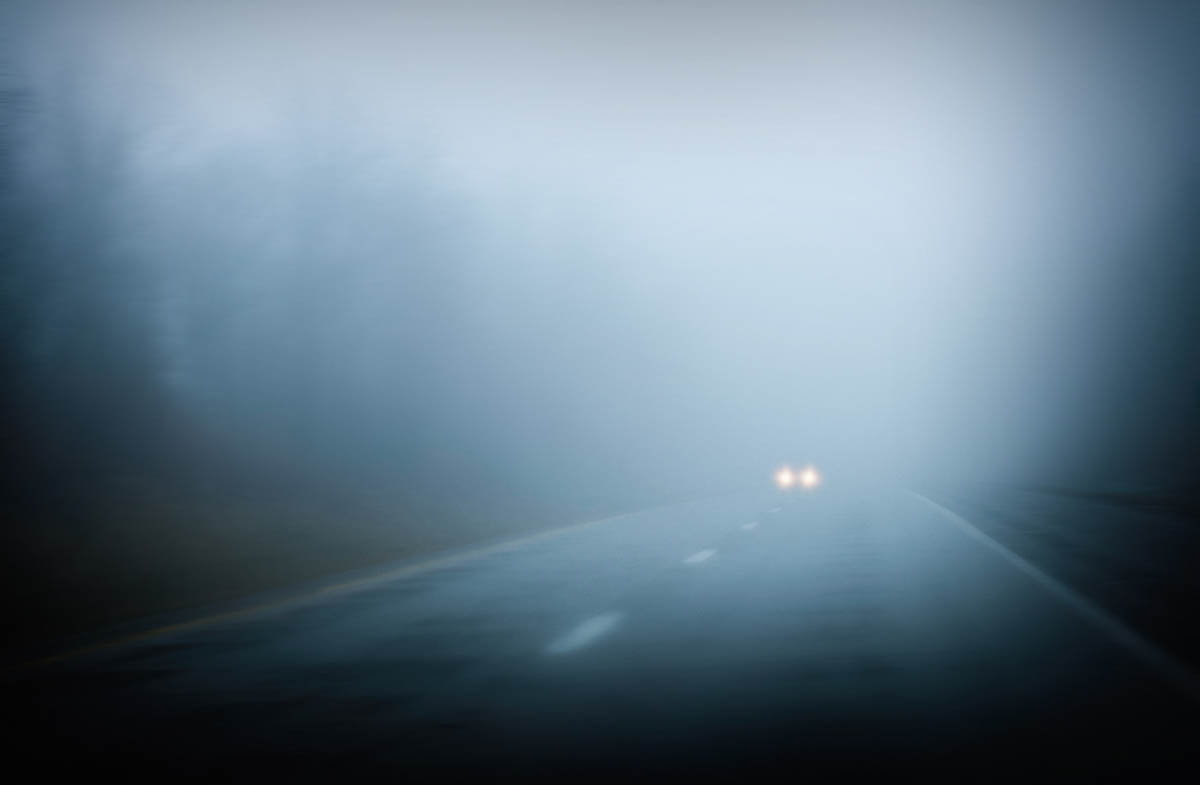 Free stock photo Idyllic view of country road in foggy weather