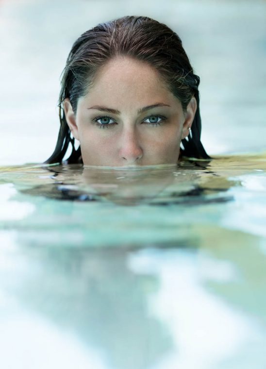 Free stock photo Portrait of seductive woman emerging from water