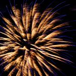 Free stock photo Low angle view of firework display at night