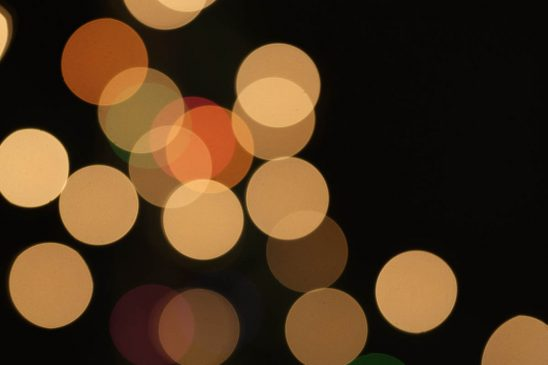 Free stock photo Defocused lights at night