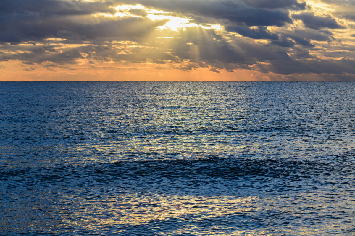 Free stock photo Scenic view of seascape against sky during sunset