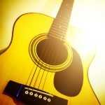 Free stock photo Close-up of yellow guitar