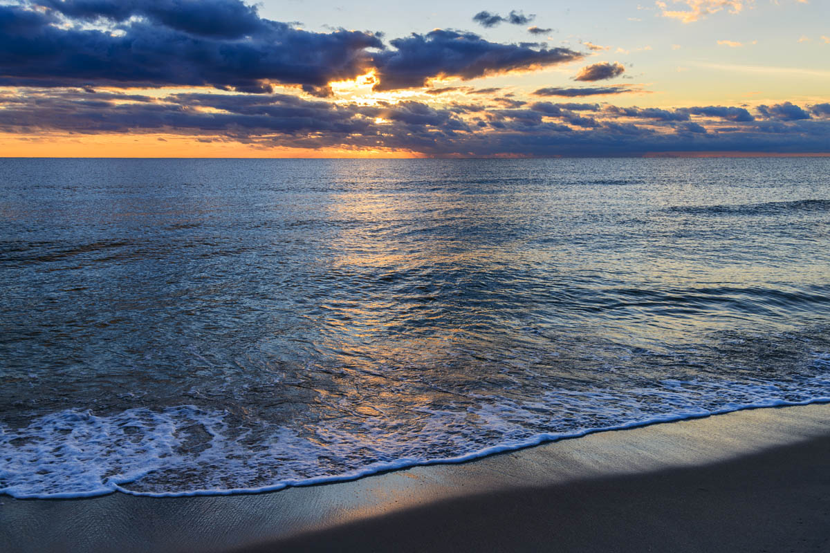 Free stock photo Scenic view of sea at beach during sunset