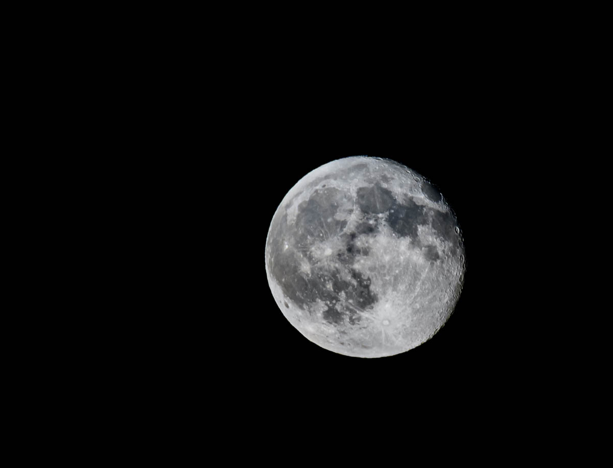 Free stock photo Scenic view of full moon in sky