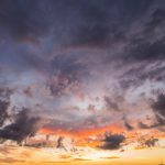 Free stock photo Scenic horizontal view of sky and clouds during sunset