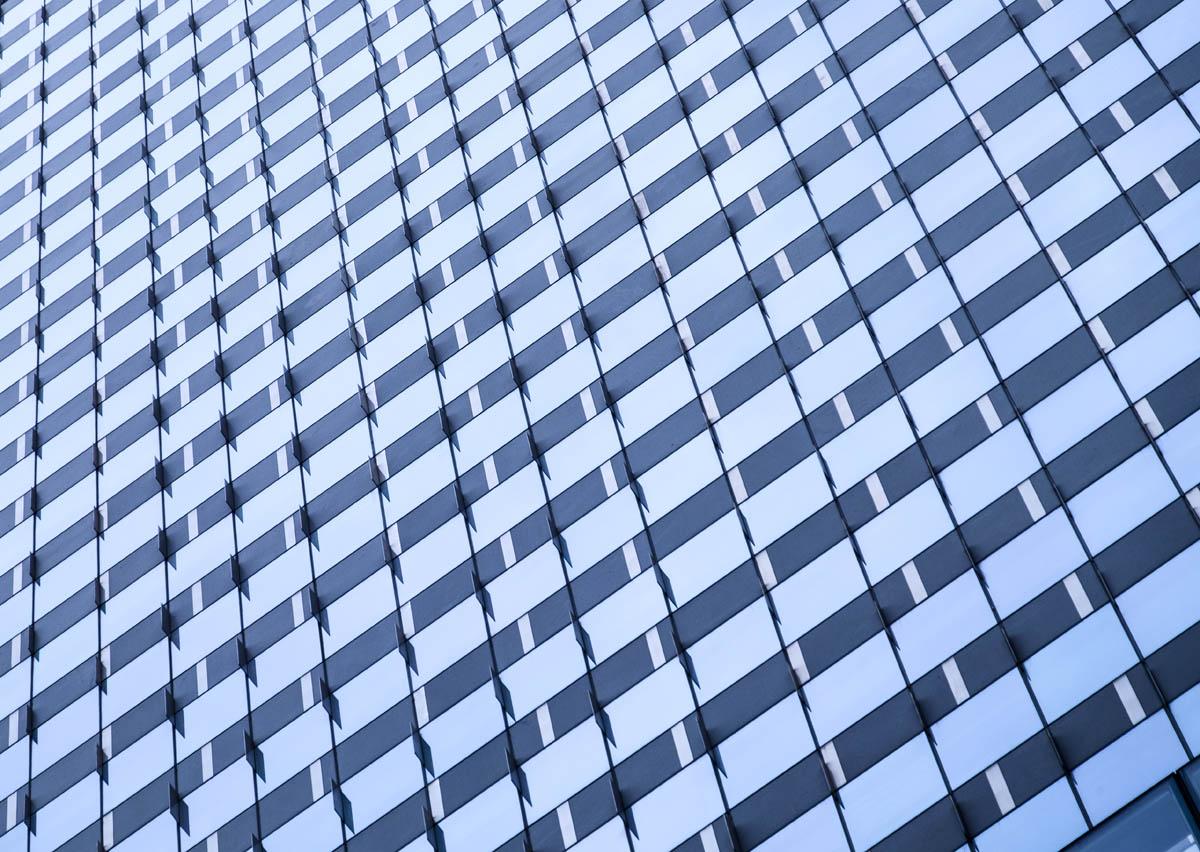 Free stock photo Full frame shot of modern office building