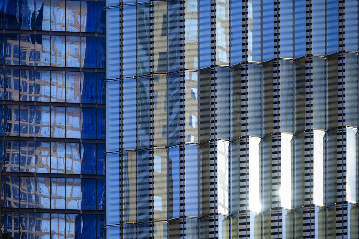 Free stock photo Full frame shot of modern glass buildings