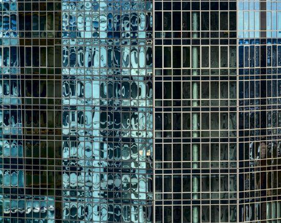 Free stock photo Full frame shot of modern glass building