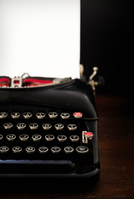 Free stock photo Close-up of typewriter on table