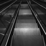 Free stock photo High angle view of escalator