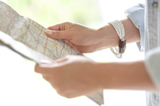 Free stock photo Horizontal close-up of hands holding map