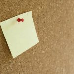Free stock photo Close-up of adhesive note on bulletin board
