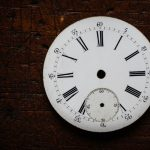 Free stock photo Close-up of clock face on wooden table