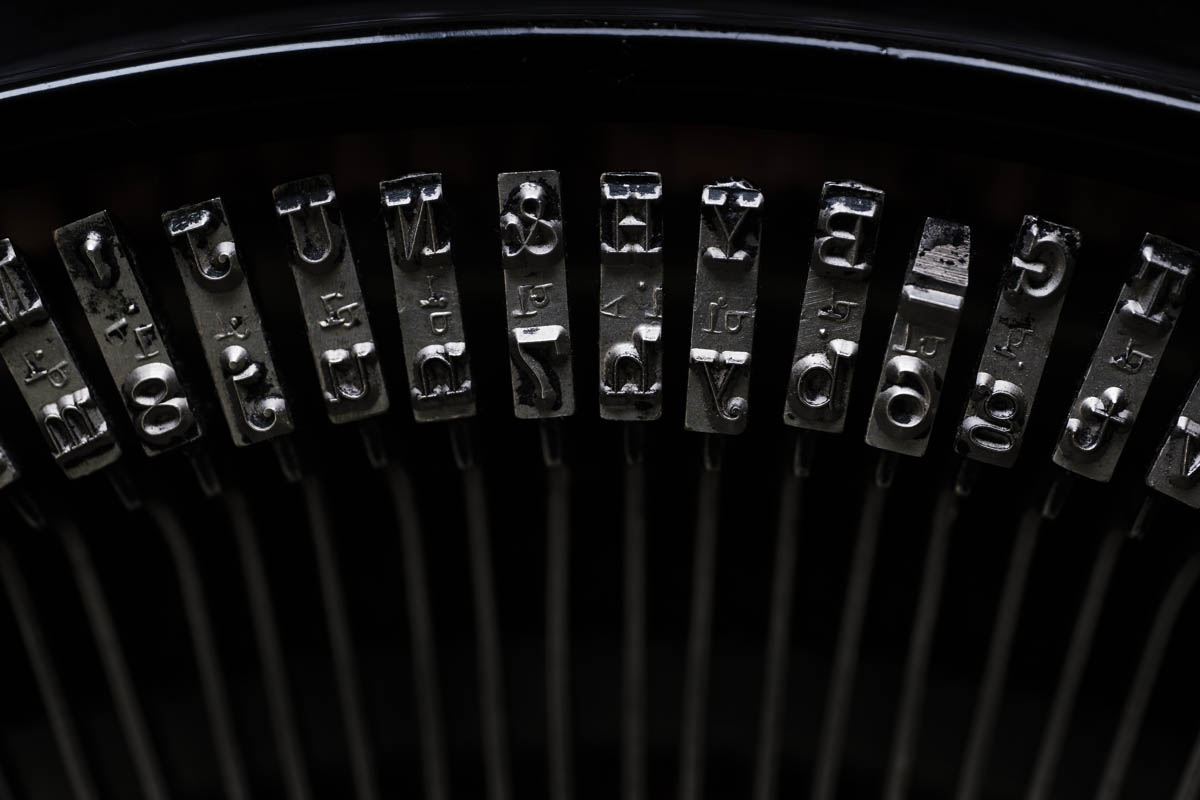 Free stock photo Close-up of typewriter keys