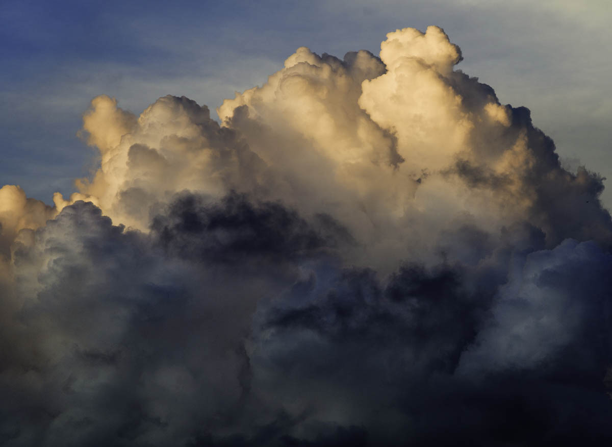 Free stock photo Low angle view of dramatic storm clouds in sky