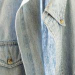 Free stock photo Close-up of denim shirt