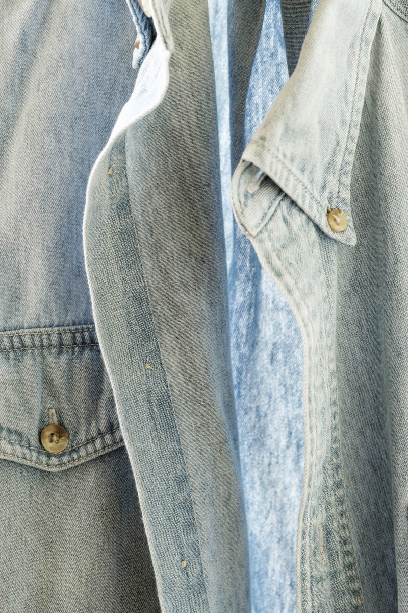Free stock photo Close-up of denim shirt