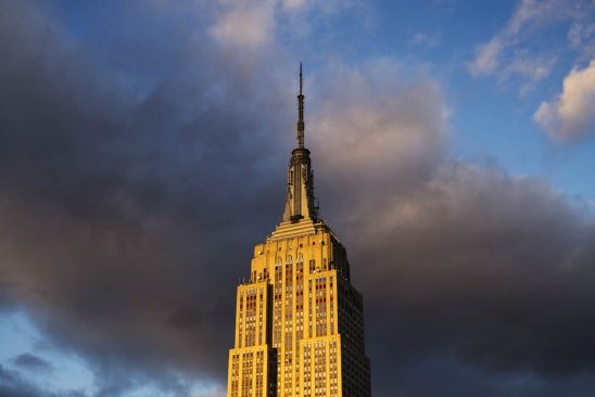 Free stock photo Low angle sunset view of empire state building