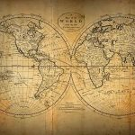 Free stock photo Close-up of old-fashioned world map