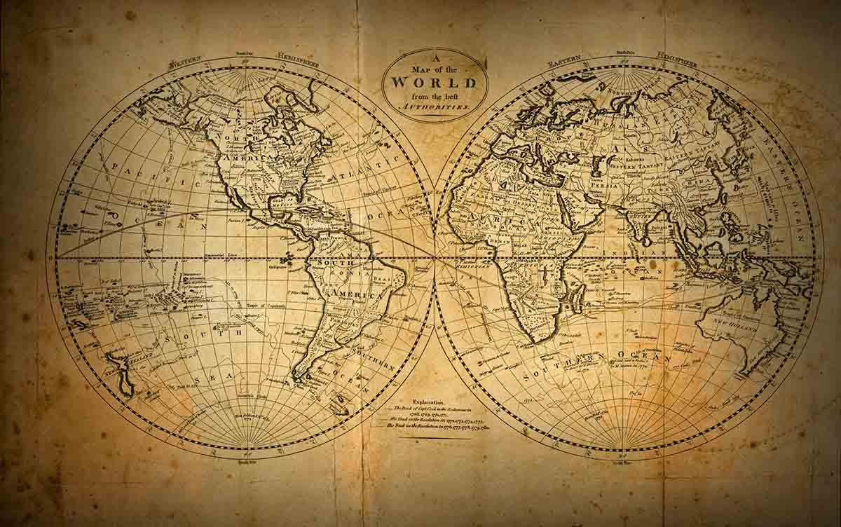 Close up of old fashioned world map stockfreedom premium stock free stock photo close up of old fashioned world map gumiabroncs Gallery