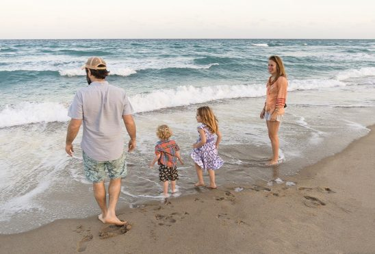 Free stock photo Family on the beach with their children