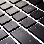 Free stock photo Close up of black keys on a laptop keyboard