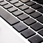 Free stock photo Close up laptop keyboard with black keys