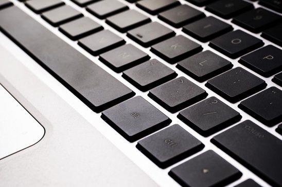 Free stock photo Close up laptop keyboard with black keys