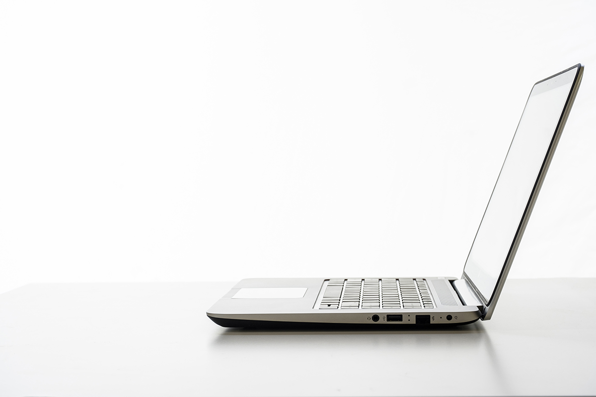 Free stock photo Open laptop computer on a desk