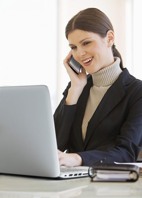 Free stock photo Business woman talking on phone