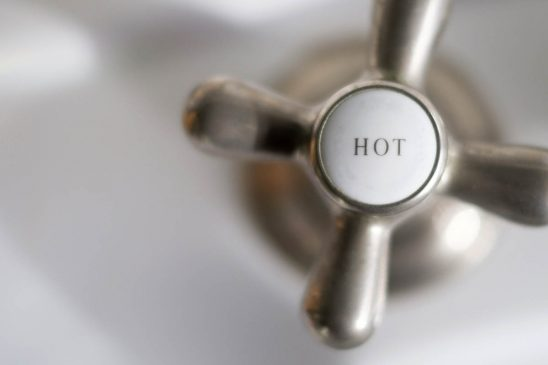 Free stock photo Hot sign on faucet