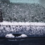 Free stock photo Close-up of snow on car
