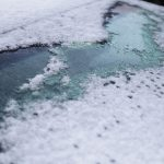 Free stock photo Close-up of snow car windshield