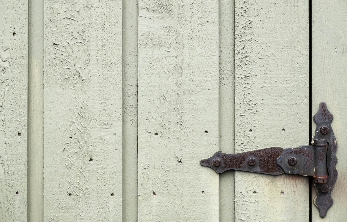 Free stock photo Close-up of rusty metal hinge on door