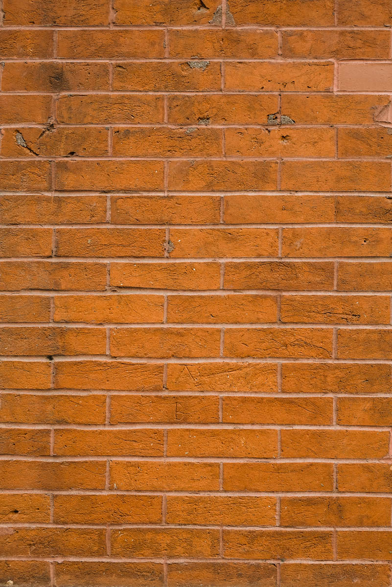 Free stock photo Vertical close-up of brick wall