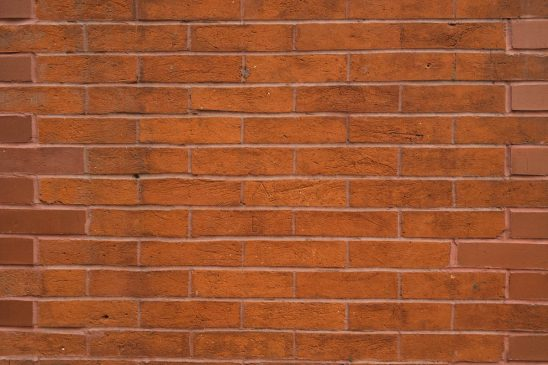Free stock photo Horizontal close-up of brick wall