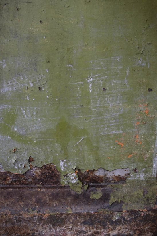 Free stock photo Close-up of paint peeling off from green wall